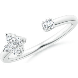 Diamond Stackable Floral Open Ring found on Bargain Bro Philippines from Angara Jewelry for $979.00