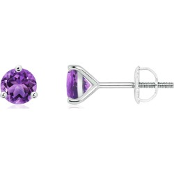 Martini-Set Round Amethyst Stud Earrings found on Bargain Bro India from Angara Jewelry for $489.00