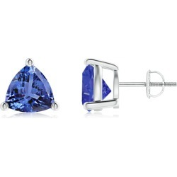 Basket-Set Trillion Tanzanite Stud Earrings found on Bargain Bro Philippines from Angara Jewelry for $1669.00