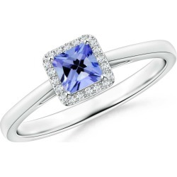 Classic Square Tanzanite Halo Ring found on Bargain Bro Philippines from Angara Jewelry for $989.00
