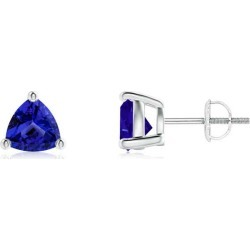 Basket-Set Trillion Tanzanite Stud Earrings found on Bargain Bro Philippines from Angara Jewelry for $2049.00