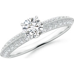 Diamond Solitaire Knife Edge Engagement Ring with Accents found on Bargain Bro Philippines from Angara Jewelry for $1669.00