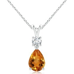 Pear-Shaped Citrine V-Bale Pendant found on MODAPINS from Angara Jewelry for USD $489.00