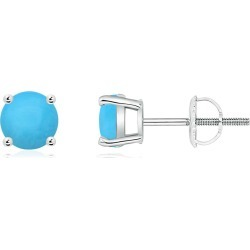 Basket-Set Round Turquoise Studs found on Bargain Bro India from Angara Jewelry for $629.00