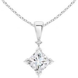 Princess-Cut Diamond Pendant found on MODAPINS from Angara Jewelry for USD $7569.00