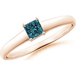 Princess-Cut Blue Diamond Solitaire Engagement Ring found on Bargain Bro from Angara Jewelry for USD $371.64