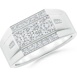Rectangular Composite Diamond Convex Men's Ring found on MODAPINS from Angara Jewelry for USD $2519.00