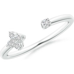 Diamond Stackable Floral Open Ring found on Bargain Bro Philippines from Angara Jewelry for $529.00