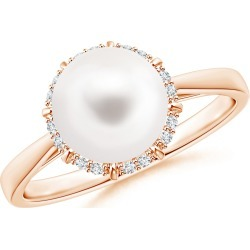 Victorian Style Freshwater Cultured Pearl and Diamond Ring found on Bargain Bro Philippines from Angara Jewelry for $529.00