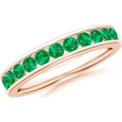 Channel Set Half Eternity Emerald Wedding Band found on Bargain Bro India from Angara Jewelry for $1129.00