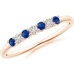 Half Eternity Seven Stone Sapphire and Diamond Wedding Band found on Bargain Bro India from Angara Jewelry for $579.00