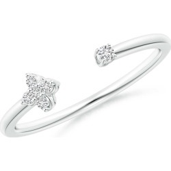 Diamond Stackable Floral Open Ring found on Bargain Bro India from Angara Jewelry for $449.00