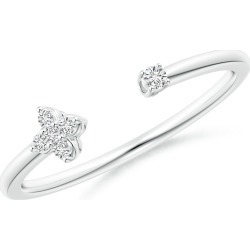 Diamond Stackable Floral Open Ring found on Bargain Bro Philippines from Angara Jewelry for $449.00
