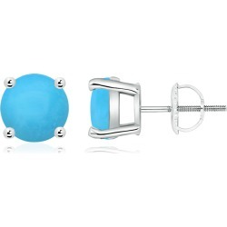 Basket-Set Round Turquoise Studs found on Bargain Bro India from Angara Jewelry for $1699.00