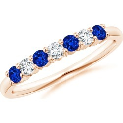 Half Eternity Seven Stone Sapphire and Diamond Wedding Band found on Bargain Bro India from Angara Jewelry for $1019.00