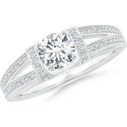 Vintage Style Diamond Split Shank Ring found on Bargain Bro Philippines from Angara Jewelry for $8019.00