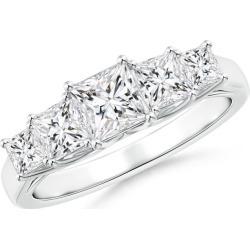 Graduated Princess-Cut Trellis Diamond Five Stone Band found on Bargain Bro from Angara Jewelry for USD $3,084.84