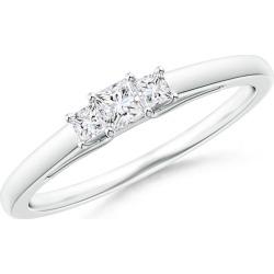 Princess-Cut Diamond Trellis Three Stone Ring found on Bargain Bro from Angara Jewelry for USD $1,048.04