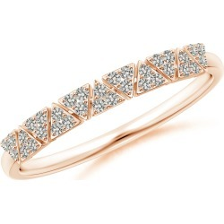 Art Deco Style Diamond Stackable Band