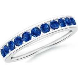 Channel Set Half Eternity Sapphire Wedding Band found on Bargain Bro India from Angara Jewelry for $1059.00
