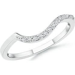 Prong Set Diamond Swirl Wedding Band for Women found on Bargain Bro India from Angara Jewelry for $619.00