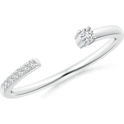Diamond Stackable Open Ring found on Bargain Bro India from Angara Jewelry for $839.00