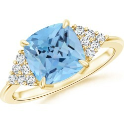 Classic Cushion Aquamarine Ring with Diamond Accents found on Bargain Bro Philippines from Angara Jewelry for $4949.00