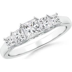 Graduated Princess-Cut Trellis Diamond Five Stone Band found on Bargain Bro from Angara Jewelry for USD $1,823.24