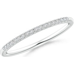 Fishtail Set Diamond Semi Eternity Wedding Band for Her found on Bargain Bro India from Angara Jewelry for $1039.00
