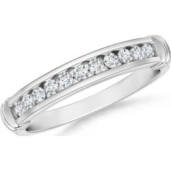 Channel Set Round Diamond Semi Eternity Love Wedding Band found on Bargain Bro India from Angara Jewelry for $1609.00