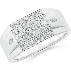 Rectangular Composite Diamond Convex Men's Ring found on MODAPINS from Angara Jewelry for USD $3349.00