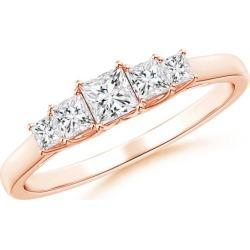 Graduated Princess-Cut Trellis Diamond Five Stone Band found on Bargain Bro from Angara Jewelry for USD $744.04