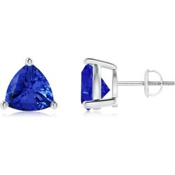 Basket-Set Trillion Tanzanite Stud Earrings found on Bargain Bro Philippines from Angara Jewelry for $2919.00