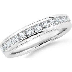 Channel Set Round Diamond Half Eternity Wedding Band found on Bargain Bro India from Angara Jewelry for $2169.00