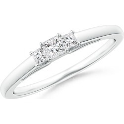 Princess-Cut Diamond Trellis Three Stone Ring found on Bargain Bro from Angara Jewelry for USD $523.64