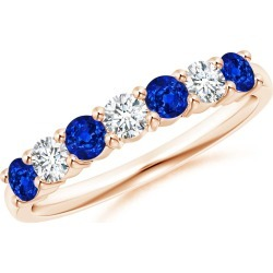 Half Eternity Seven Stone Sapphire and Diamond Wedding Band found on Bargain Bro India from Angara Jewelry for $1559.00