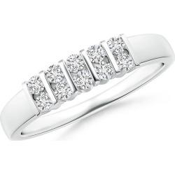 Twin-Row Bar-Set Diamond Ten Stone Wedding Band found on Bargain Bro India from Angara Jewelry for $1219.00