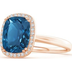 Cushion London Blue Topaz Cocktail Ring found on Bargain Bro India from Angara Jewelry for $1789.00