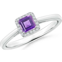 Classic Square Amethyst Halo Ring found on Bargain Bro Philippines from Angara Jewelry for $559.00