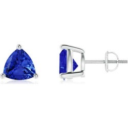 Basket-Set Trillion Tanzanite Stud Earrings found on Bargain Bro Philippines from Angara Jewelry for $1909.00