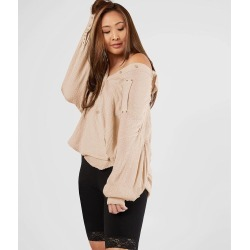 Free People Solid Hidden Valley Blouse