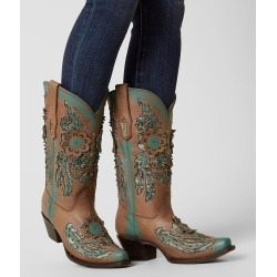 Corral Laser Cut Leather Western Boot found on Bargain Bro India from buckle.com for $191.21
