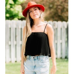 FAVLUX Pleated Ruffle Tank Top found on Bargain Bro Philippines from buckle.com for $32.95