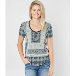 Lucky Brand Geometric Burnout Top found on Bargain Bro from buckle.com for USD $22.51