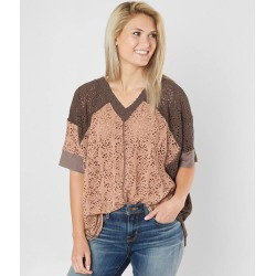 mystree Pointelle Color Block Poncho found on Bargain Bro from buckle.com for USD $27.98