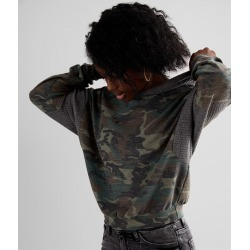 Modish Rebel Pieced Camo Hoodie found on Bargain Bro from buckle.com for USD $22.80