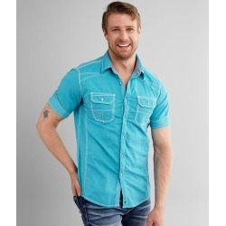 Buckle Black Embroidered Standard Stretch Shirt found on Bargain Bro Philippines from buckle.com for $56.95
