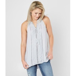 Doe & Rae Woven High Low Tank Top found on Bargain Bro from buckle.com for USD $19.84