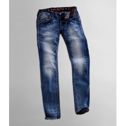 Rock Revival Flax Mid-Rise Skinny Stretch Jean found on Bargain Bro Philippines from buckle.com for $164.00