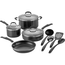 Cuisinart 11-Piece Cookware Set Black/Silver P57-11BK - Best Buy found on Bargain Bro from  for $199.99
